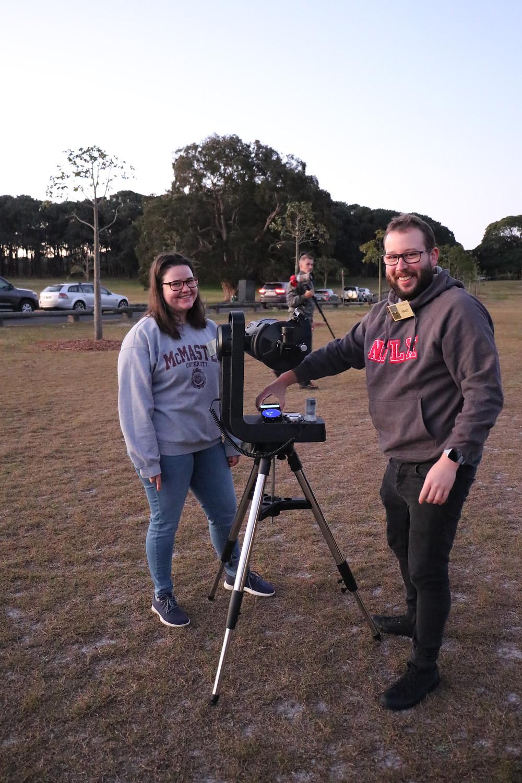 Peter Osman - Skywatcher member viewing Jupiter