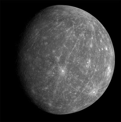 Mercury NASA's Messenger spacecraft, copyright NASA