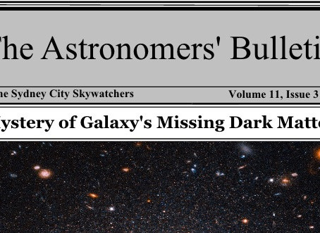 Astronomers Bulletin July to Sept 2021