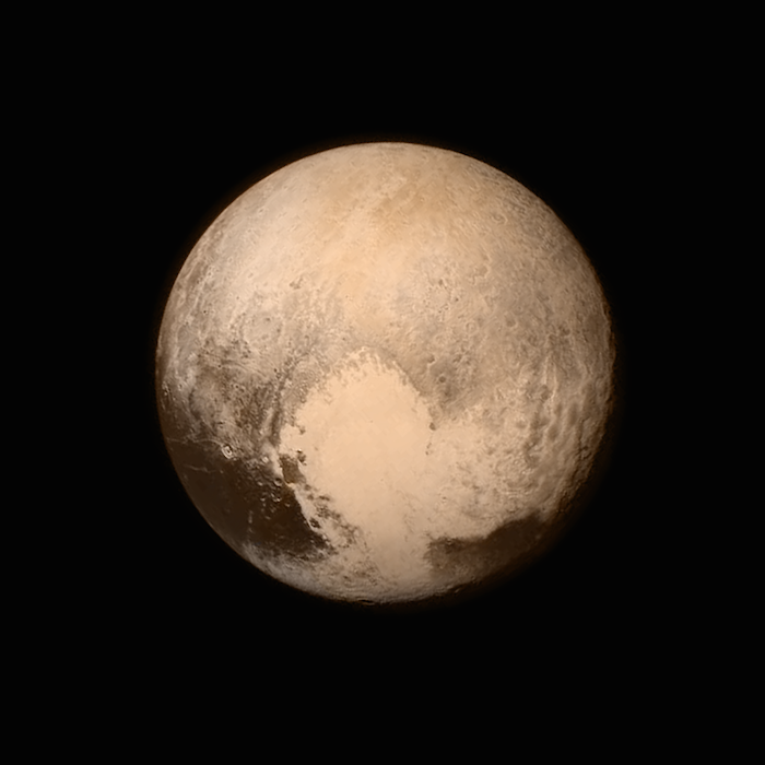 Pluto: Image credit NASA/ John Hopkins University