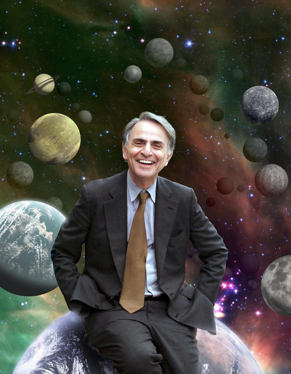 Carl Sagan. Image credit: NASA/Cosmos Studios