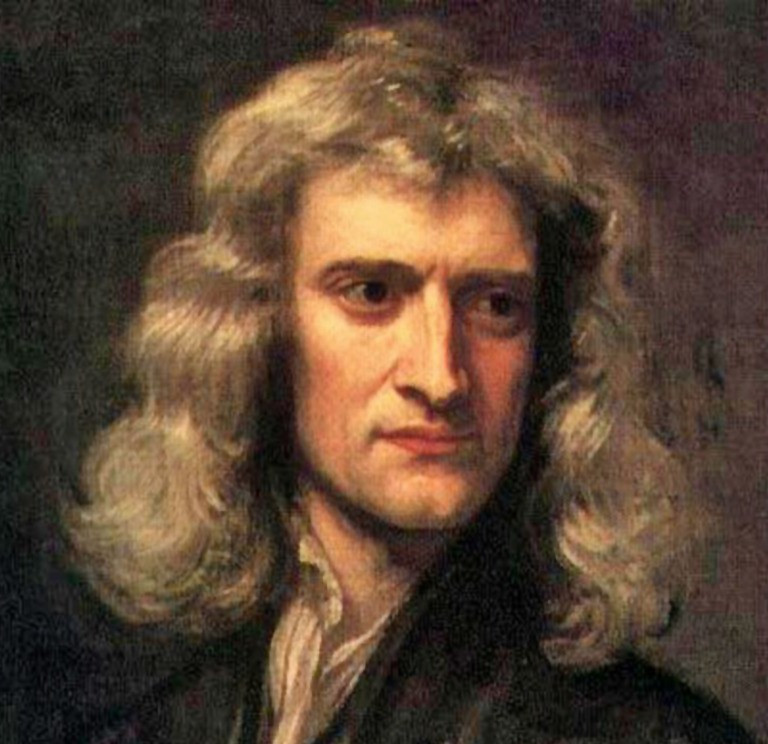 Portrait of Isaac Newton by Godfrey Kneller 1869