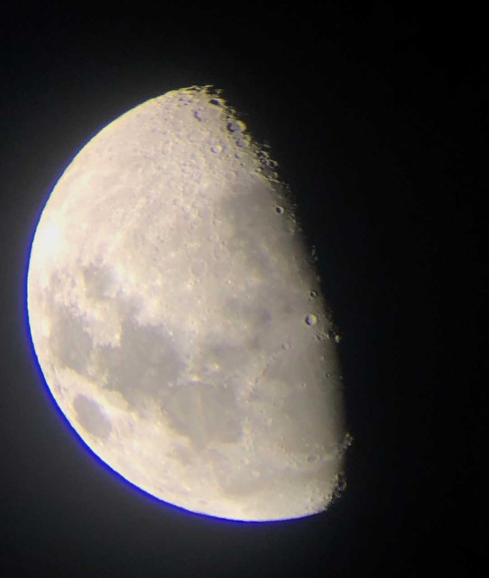 Moon 14 Feb 2019, taken with iphone through telescope