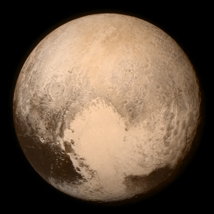 Pluto photographed from new Horizons - NASA wiki commons
