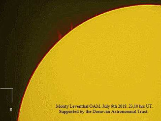 Solar observations: July 2018