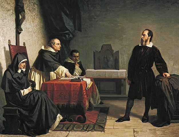 Galileo at trial - Banti - wiki commons