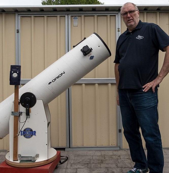 Andrew with his telescope 2020