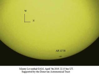 Solar Observations: April 2019