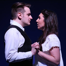Melchior and Wendla in promo photo for Spring Awakening with Theatre Nebula.