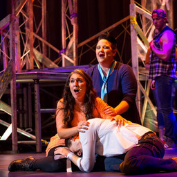 On stage as Peggy in Godspell with Encore! Performing Arts.