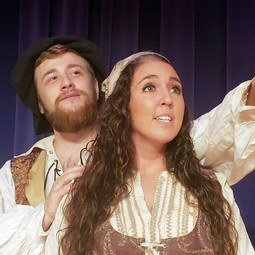 Don Quijote and Aldonza in promo photo for Man of La Mancha with MadKap Productions.