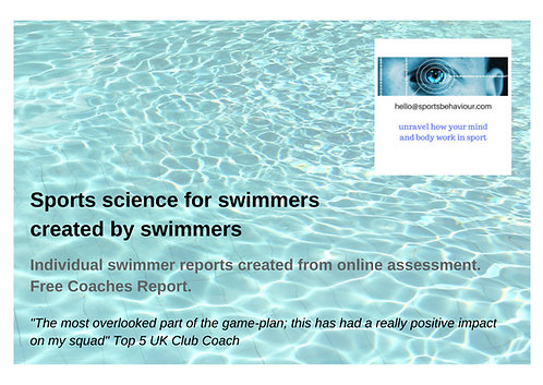 sportsbehaviour personalised swimmer report