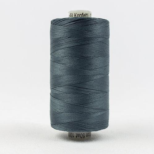 Wonderfil Konfetti 1000M Thread - Blue Grey
