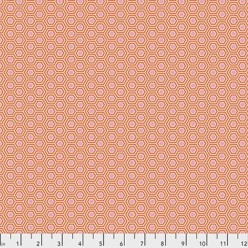 Tula Pink Hexy - Peach Blossom