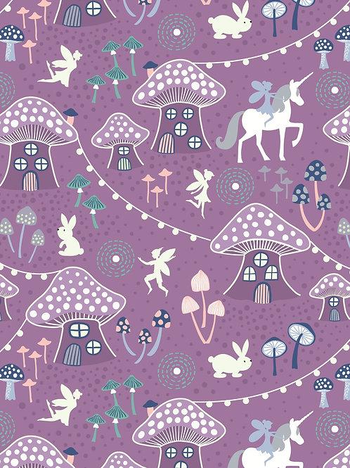 Lewis & Irene - Fairy Nights - Mushroom Village Purple