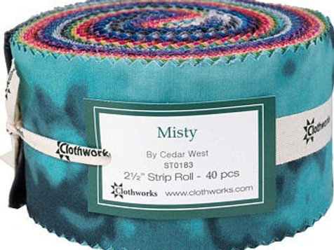 Clothworks - Misty Collection Jelly Roll