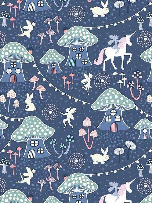 Lewis & Irene - Fairy Nights - Mushroom Village Midnight Blue