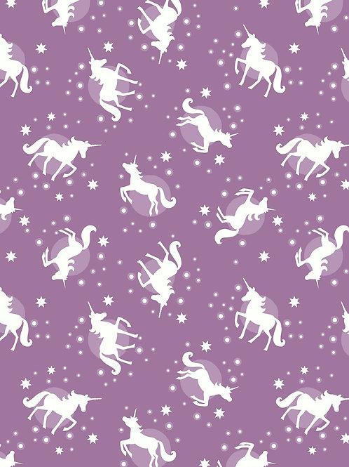 Lewis & Irene - Fairy Nights - Unicorn Spots Soft Blackberry