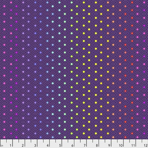 Tula Pink Hexy Rainbow - Starling