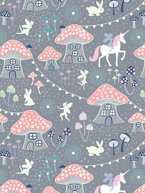 Lewis & Irene - Fairy Nights - Mushroom Village Dusky Grey
