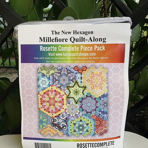 The NewHexagon Millefiore Quilt Along - Rosette Complete Piece Pack