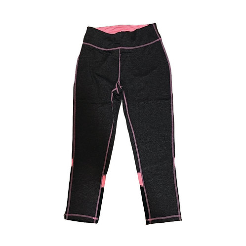 charcoal & pink sporty workout pants