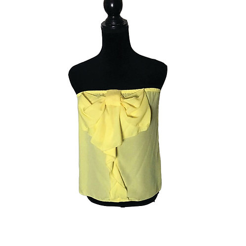 yellow tube top with bow