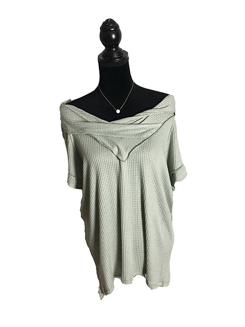 Greenish off the shoulder top