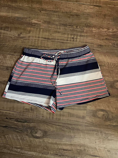 Red, white & blue striped shorts