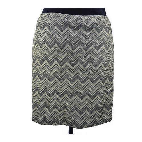 chevron metallic mini skirt