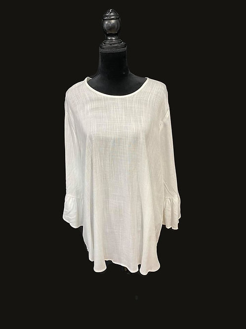 ivory mid sleeve top