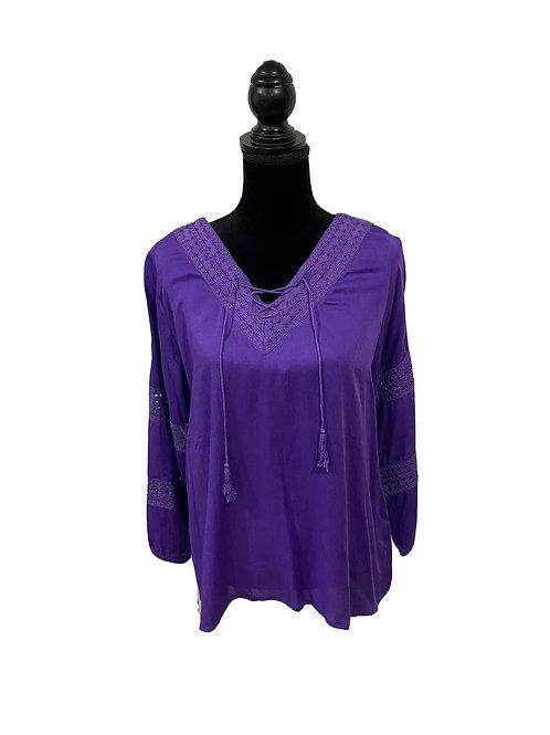 junior plus purple boho top
