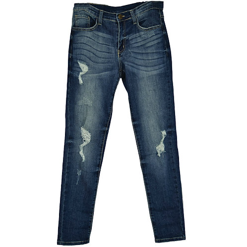 skinny style distressed jeans
