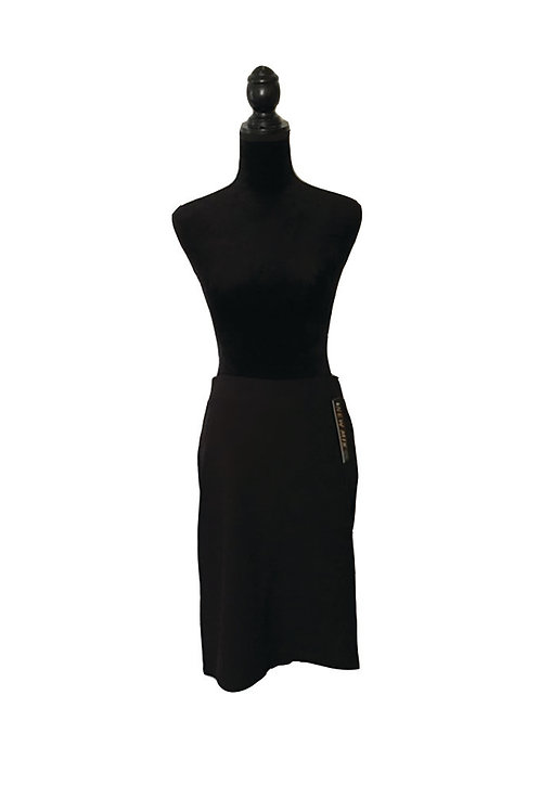 Plus size stretchy, black pencil skirt