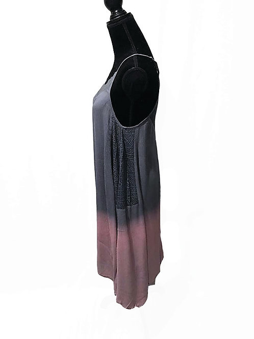 grey/mauve dip dye tank dress