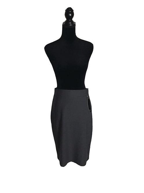 Plus size, dark grey, stretchy pencil skirt