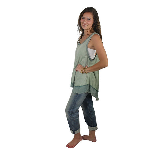 two toned sage colored tank top