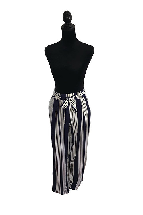 navy and ivory striped pants