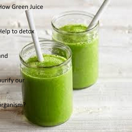 Green juices to purify and detoxify the body