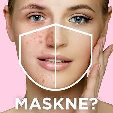 Skin care routine against maskne