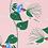 Thumbnail: Charley Harper Hummingbirds Wristlet Keychain