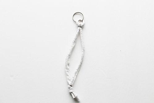 White/Gray & Silver Wristlet Keychain