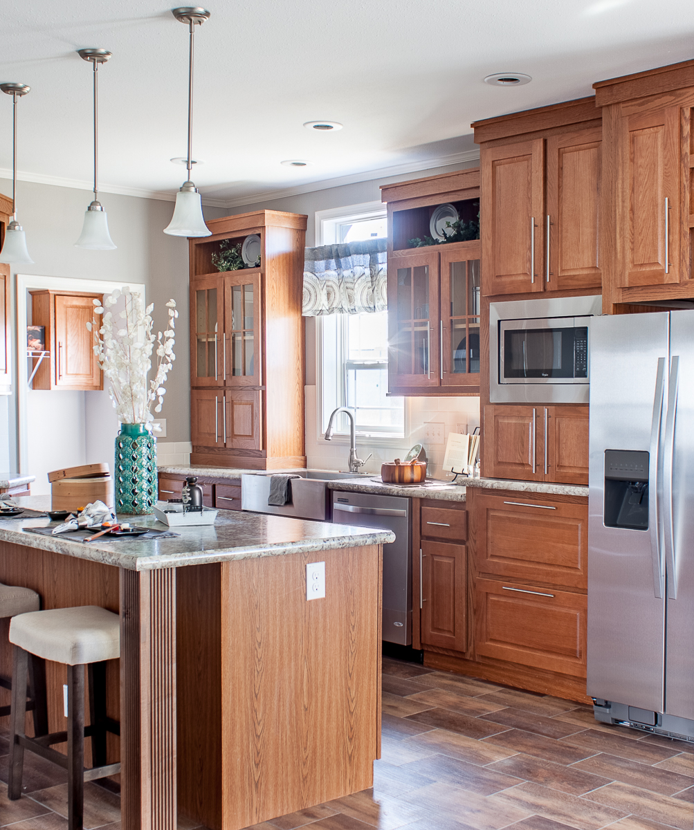 Kitchen space for entertaining