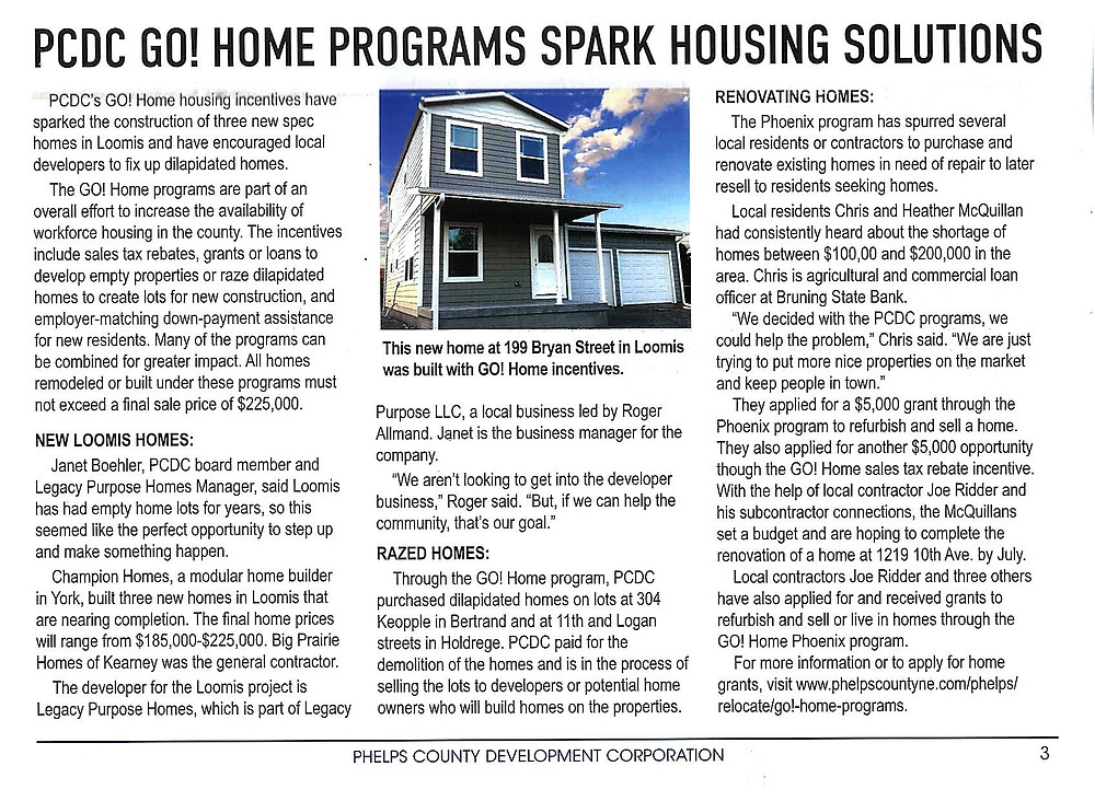 Phelps County Development Corporation Article
