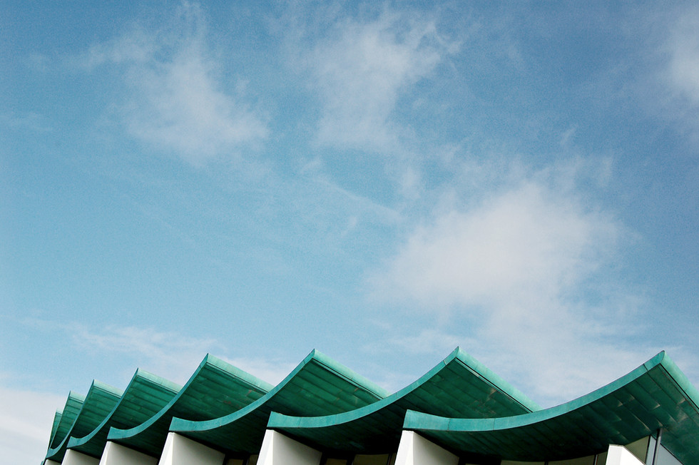 扭曲的屋頂結構