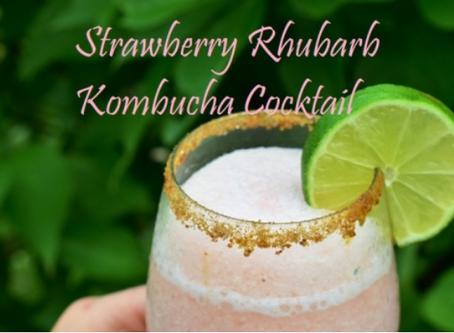 Strawberry Rhubarb Kombucha Cocktail