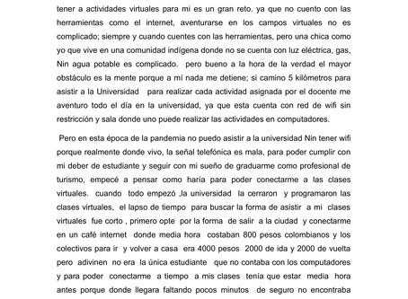 """7mo cuento preseleccionado: """"Mi travesía por superar cada reto"""" por Gina Cuadrado"""