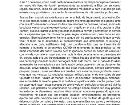 """6to cuento preseleccionado: """"REGRESO A CASA (UN VIAJE A WOSTOLEN)"""" por Joban Jusayú de Maicao"""