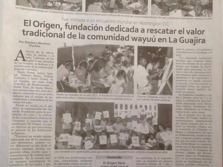Gracias @diariodelnorte por tu columna sobre los #amigodelorigen y nuestros reconocimientos.