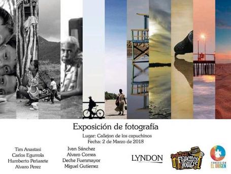 El Origen presentó su exhibición fotográfica en el callejón de los capuchinos.